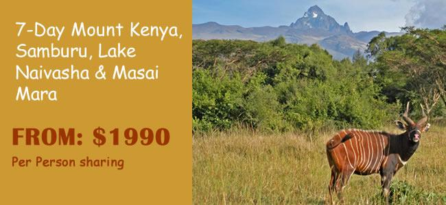 7-Day Mount Kenya, Samburu, Lake Naivasha & Masai Mara